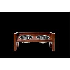 Подставка с наклоном и бортами на 2 миски KIARA